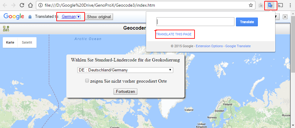 Geocoder for GenoPro